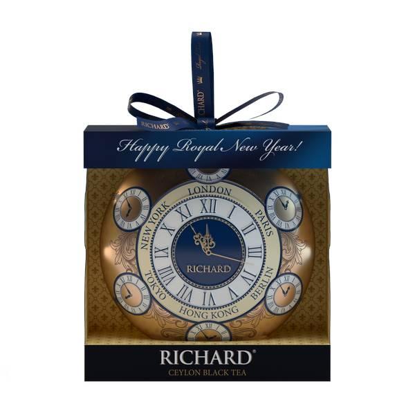 RICHARD Christmas Toy Clock - Crni cejlonski čaj krupnog lista, 20g rinfuz, metalno pakovanje