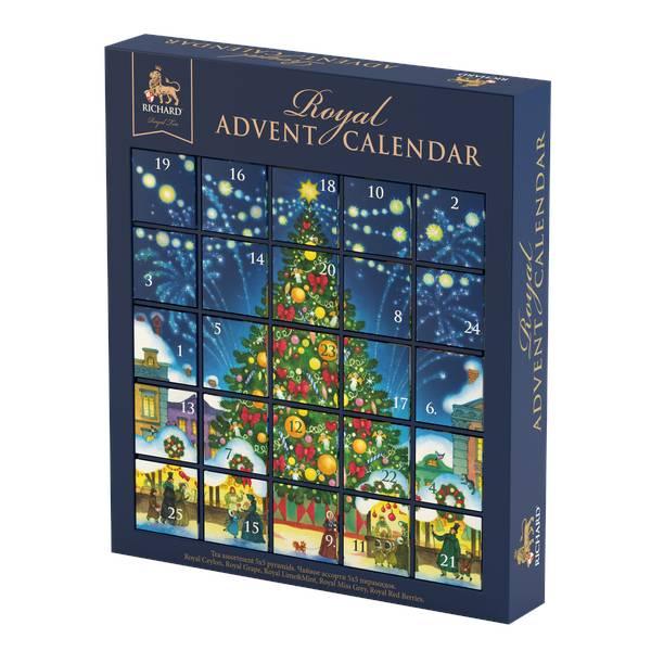 RICHARD Royal Advent Calendar - Kombinacija čajeva, 25 piramida, 43g