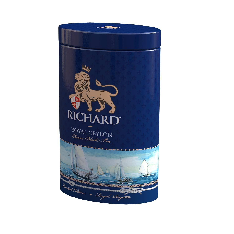RICHARD Royal Ceylon - Crni cejlonski čaj, 80g rinfuz, REGATTA metalna kutija