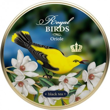 RICHARD Royal Birds - Crni čaj, 40g rinfuz, ORIOLE metalna kutija