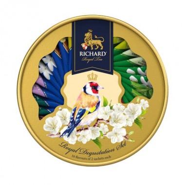 RICHARD Royal Degustation Set Tea Assortment - Kombinacija čajeva, 60,6g, pakovanje GOLDFINCH