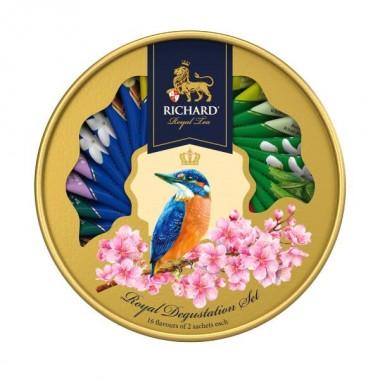 RICHARD Royal Degustation Set Tea Assortment - Kombinacija čajeva, 60,6g, pakovanje KINGFISHER