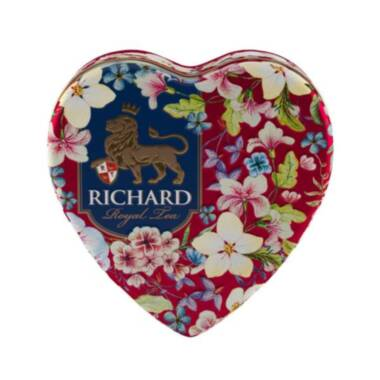 RICHARD Royal Heart - Crni cejlonski čaj sa bergamotom, 30g rinfuz, RED metalna kutija