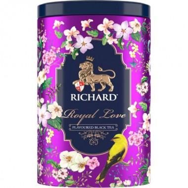 RICHARD Royal Love - Crni čaj sa bergamotom i narandžom, 80g, VIOLET metalna kutija